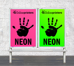 neon poster printing - onlineprinters