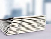 Saddle-stitched brochures from Onlineprinters