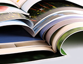 Perfect bound brochures from Onlineprinters