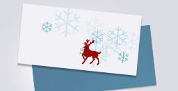 Christmas themed envelope printing