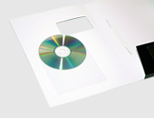 print folders with built-in cd slots