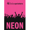 Neon paper pink. Similar image.