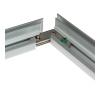 Connect the mitre-cut aluminium frame pieces...