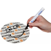 Depending on motif design, these stickers are easily writable with permanent markers (in spite of the UV-coated surface).