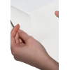 Split backing on white adhesive paper