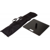 Carrier bag (included) and base plate (optional) measuring 49 x 49 cm and weighing 15 kg