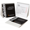 Multi-page desktop calendars with integrated blank cardboard back