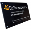 Clear 4 mm PLEXIGLAS® sign suitable for indoor or outdoor use with a premium touch (Ill. is similar)