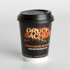 Double-wall cardboard cup, about 300 ml (12 oz) filling capacity (Ill. is similar)