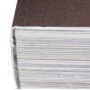PUR binding: The back edge of the book is roughened and glued to the cover