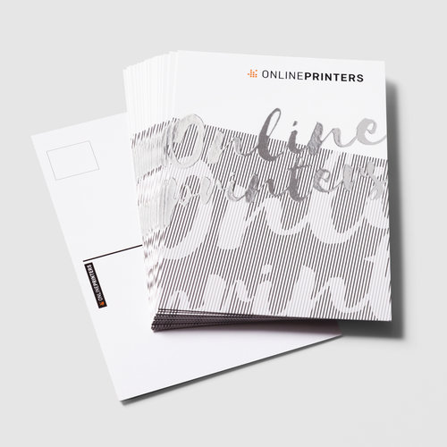 Postcards with spot silver foil