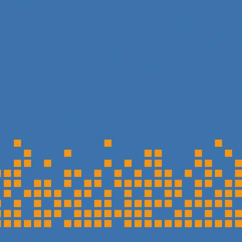 orange on blue pixels