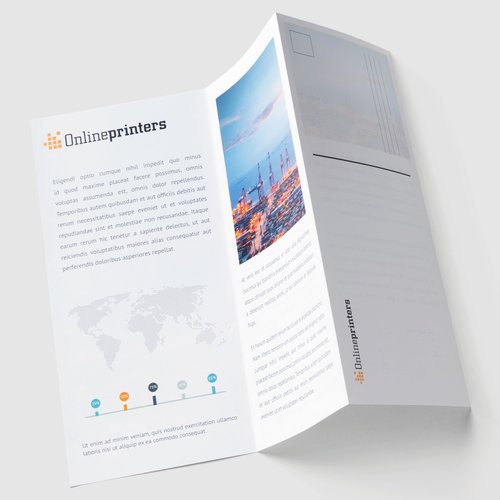 Perforated Folded Leaflets Dl Printing Free Delivery Uk