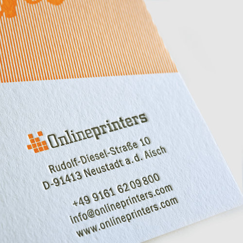 Letterpress business cards 95x45mm printing free delivery uk business cards letterpress 95 x 45 cm reheart Image collections