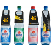 PET bottle with 4 different bottle tag shapes