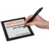 Indoor stickers (for indoor use) made of writable 73 g/m² adhesive paper Easy to write on with a ballpoint pen