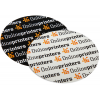 Outdoor stickers (for outdoor use) available in white or transparent PVC film (round, oval or rectangular)
