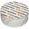 White outdoor stickers are available in a large variety of formats in round or rectangular.