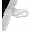 Sewn on loops with plastic snap hooks