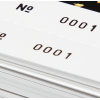 Close-up: perforation (abbreviation: perfo) and numbering