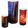 Prism: 6-edged promotional display in 3 different sizes