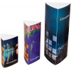 Prism: 3-edged promotional display in 3 different sizes
