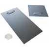 Self-adhesive metal hanger assembly (2 per board). Depending on the board size and its weight, the assemblyÂ' size is either 10x10 cm or 10x20 cm. Delivery includes self-adhesive rubber spacers.