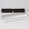 The telescope pole can be disassembled and stored conveniently in a transport bag along with the aluminium cassette.