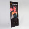 "X-Banner exclusive system, 500 g/m² PVC (fire resistance rating Â""B1 (self-extinguishing)"") for exchangeable graphics with a presentation area up to 140 x 250 cm."