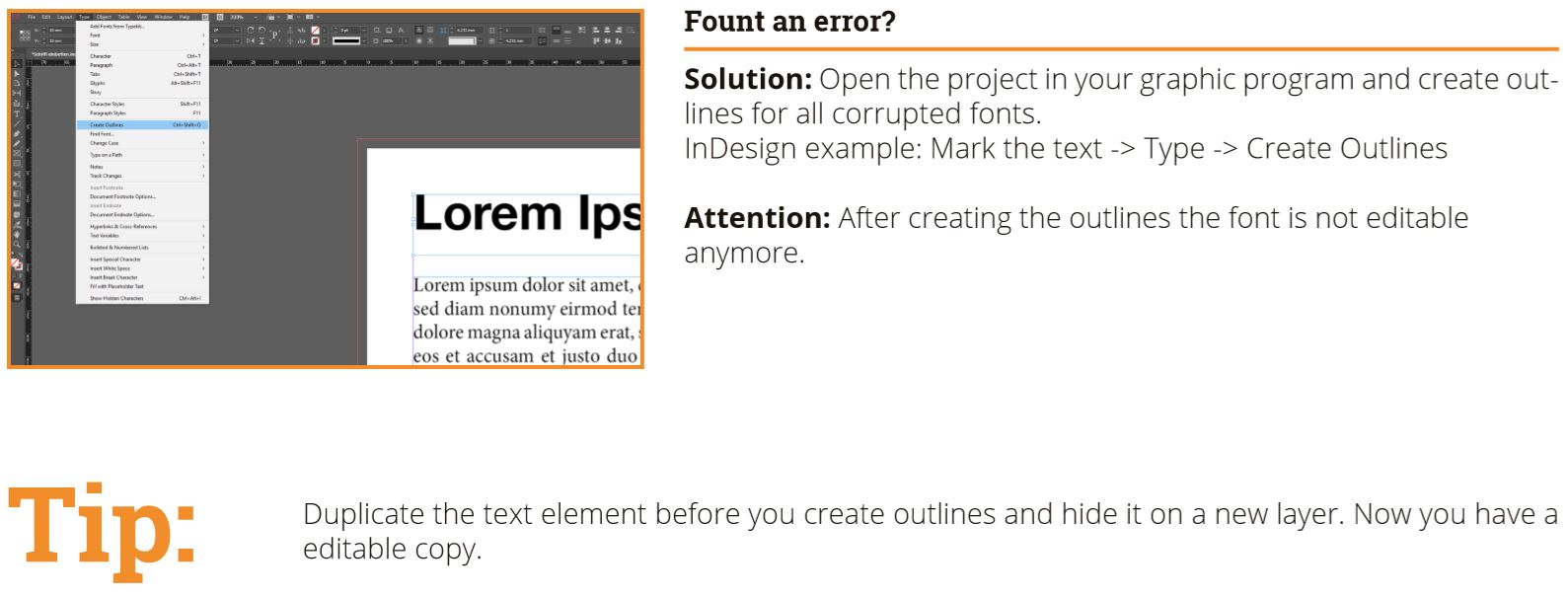 Embedding fonts – with InDesign, Photoshop & Illustrator