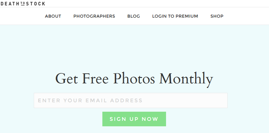 Death-of-the-stock-photo homepage