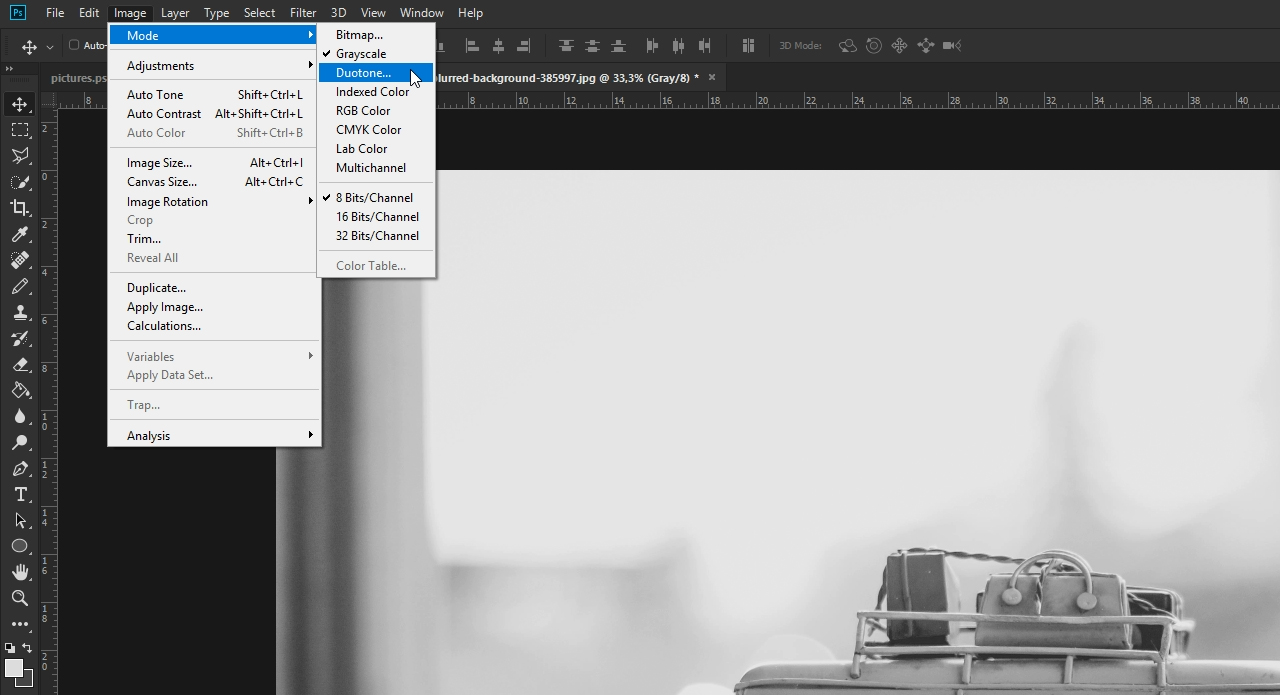 Convert your image to Grayscale