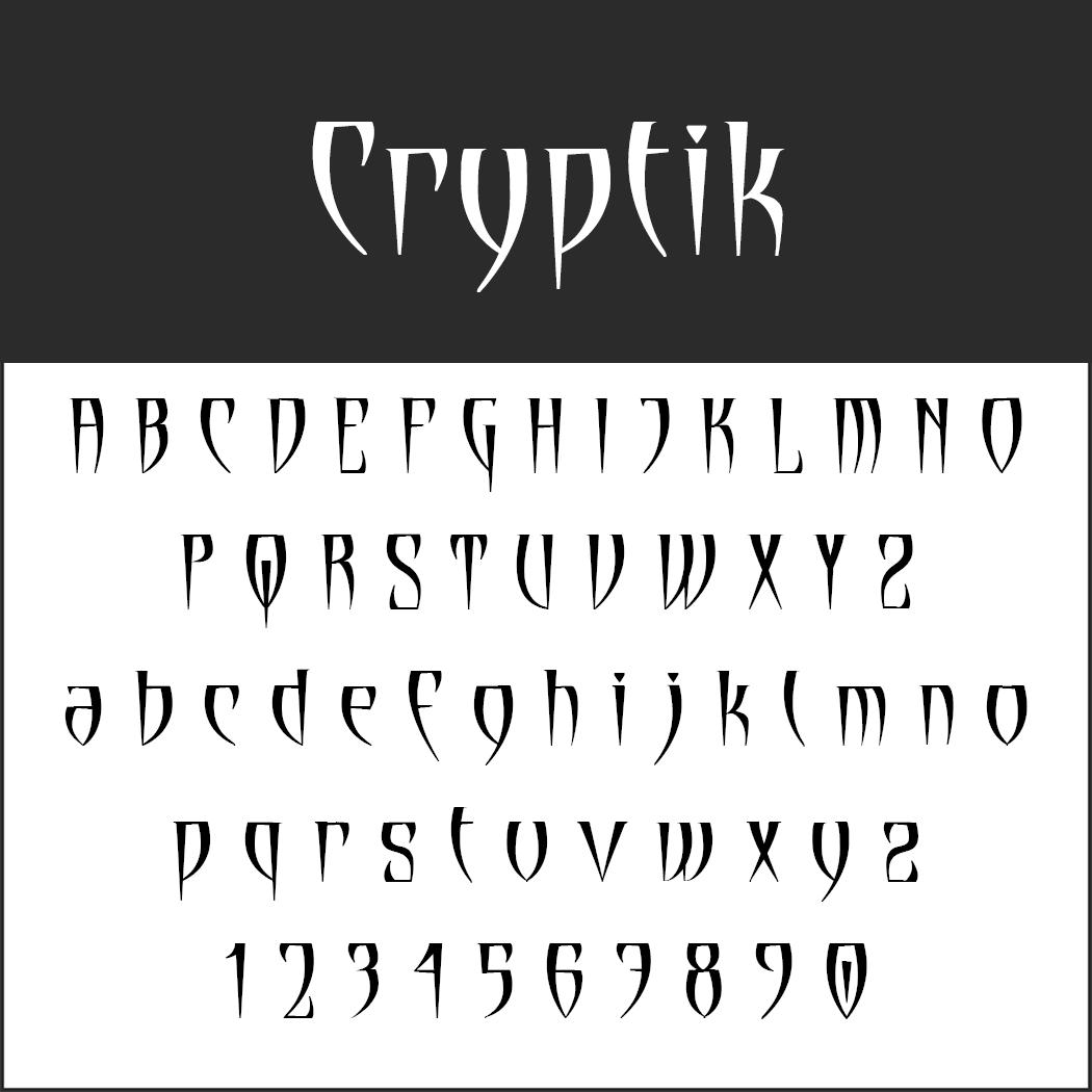 Halloween font: Cryptik