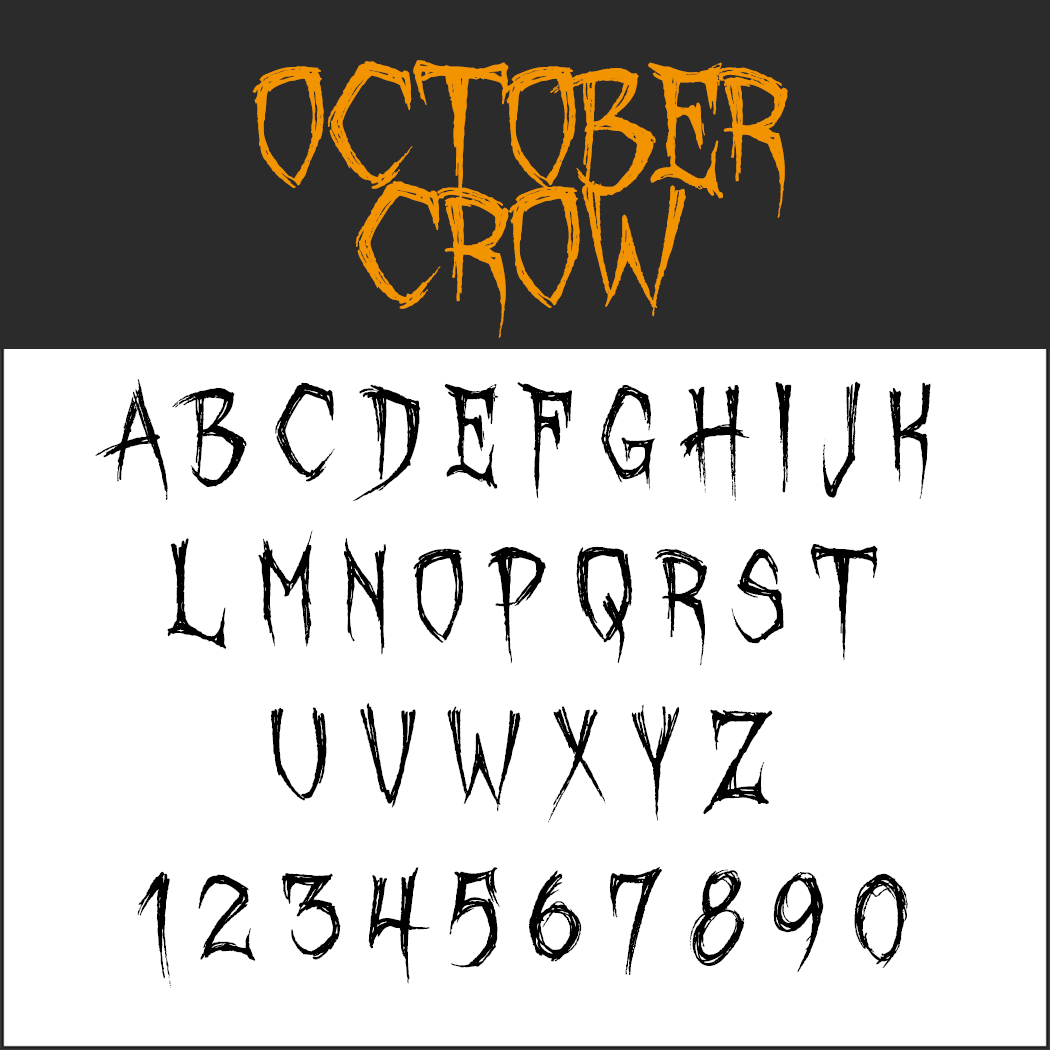 Halloween font: October Crow