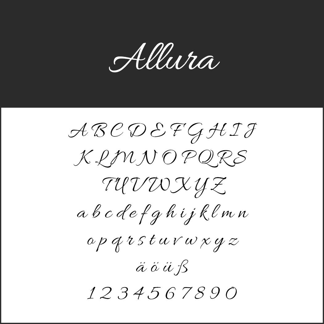 Wedding font Allura
