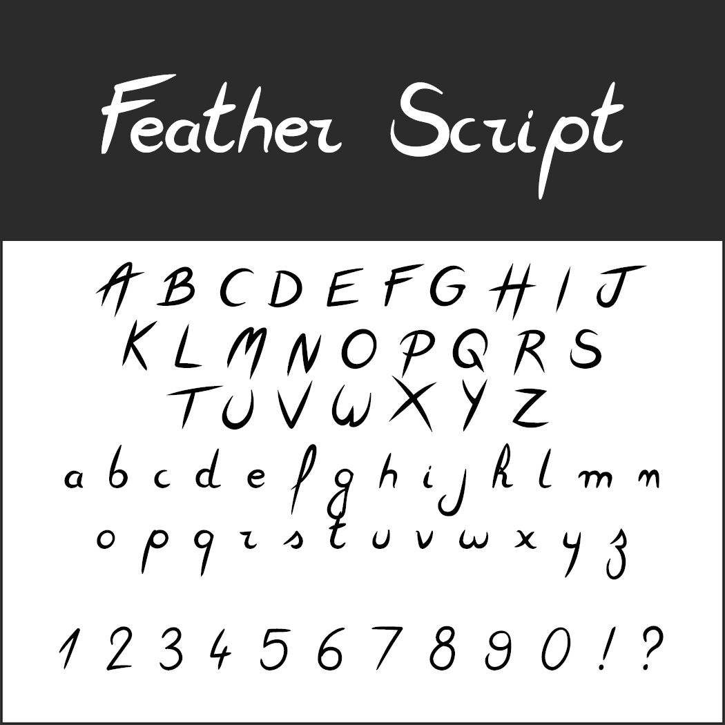 Wedding font Feather Script