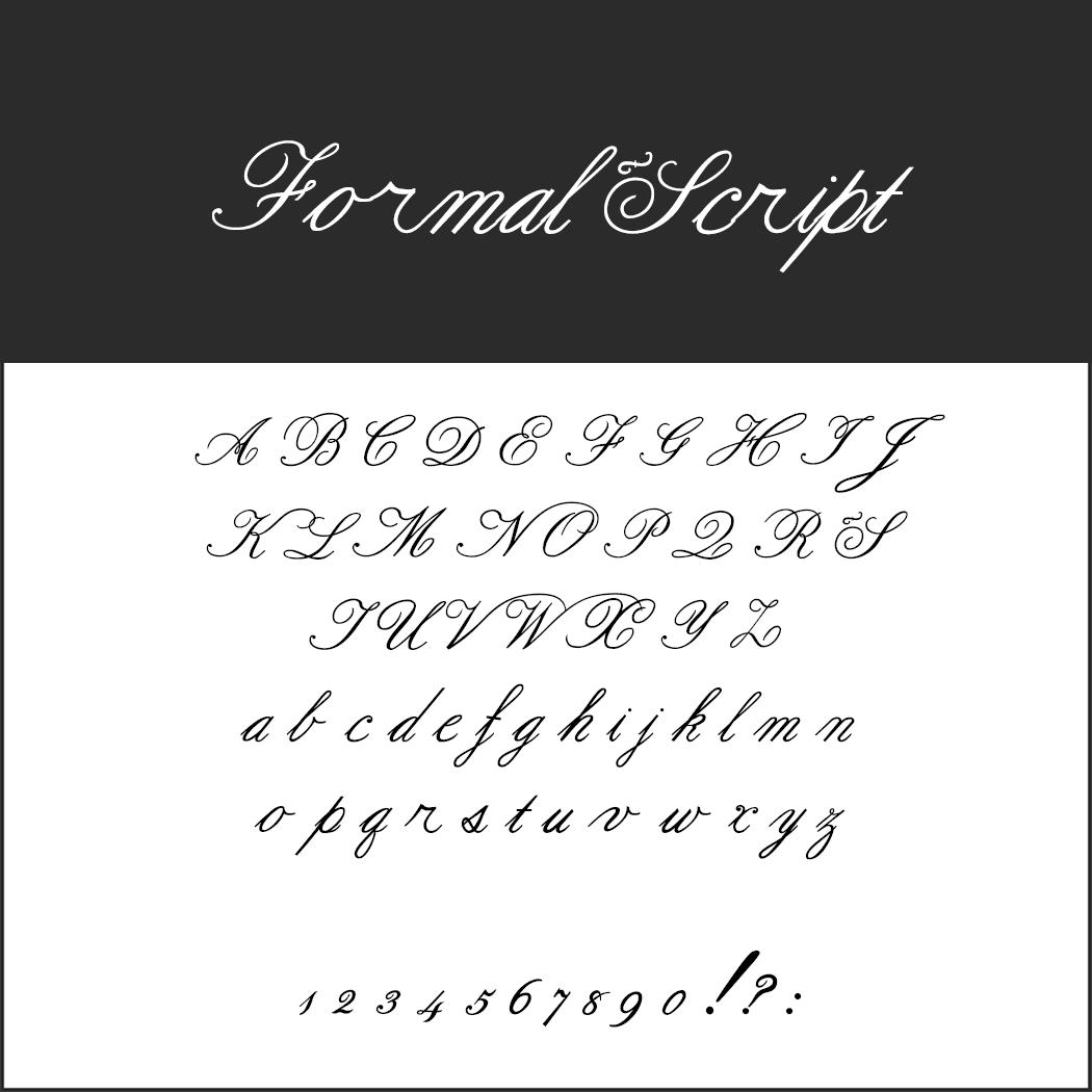 Wedding font Formal Script