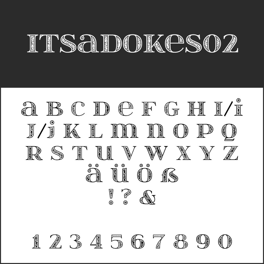 Wedding font itsadzokeS02
