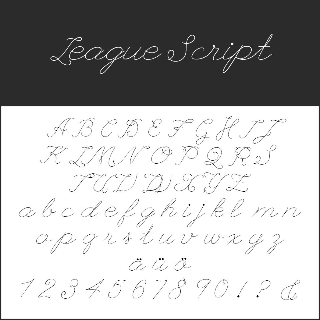 Wedding font League Script