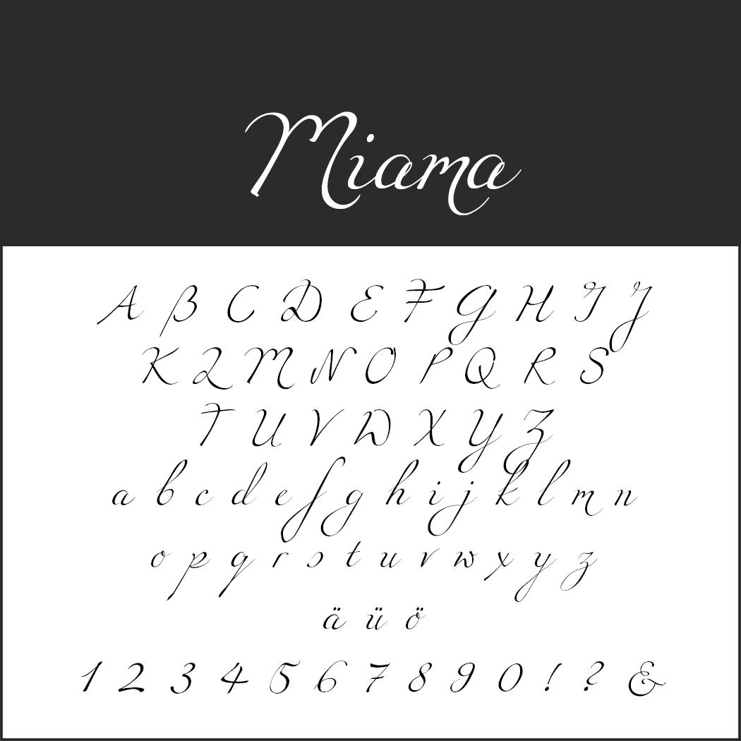 Wedding font Miamia