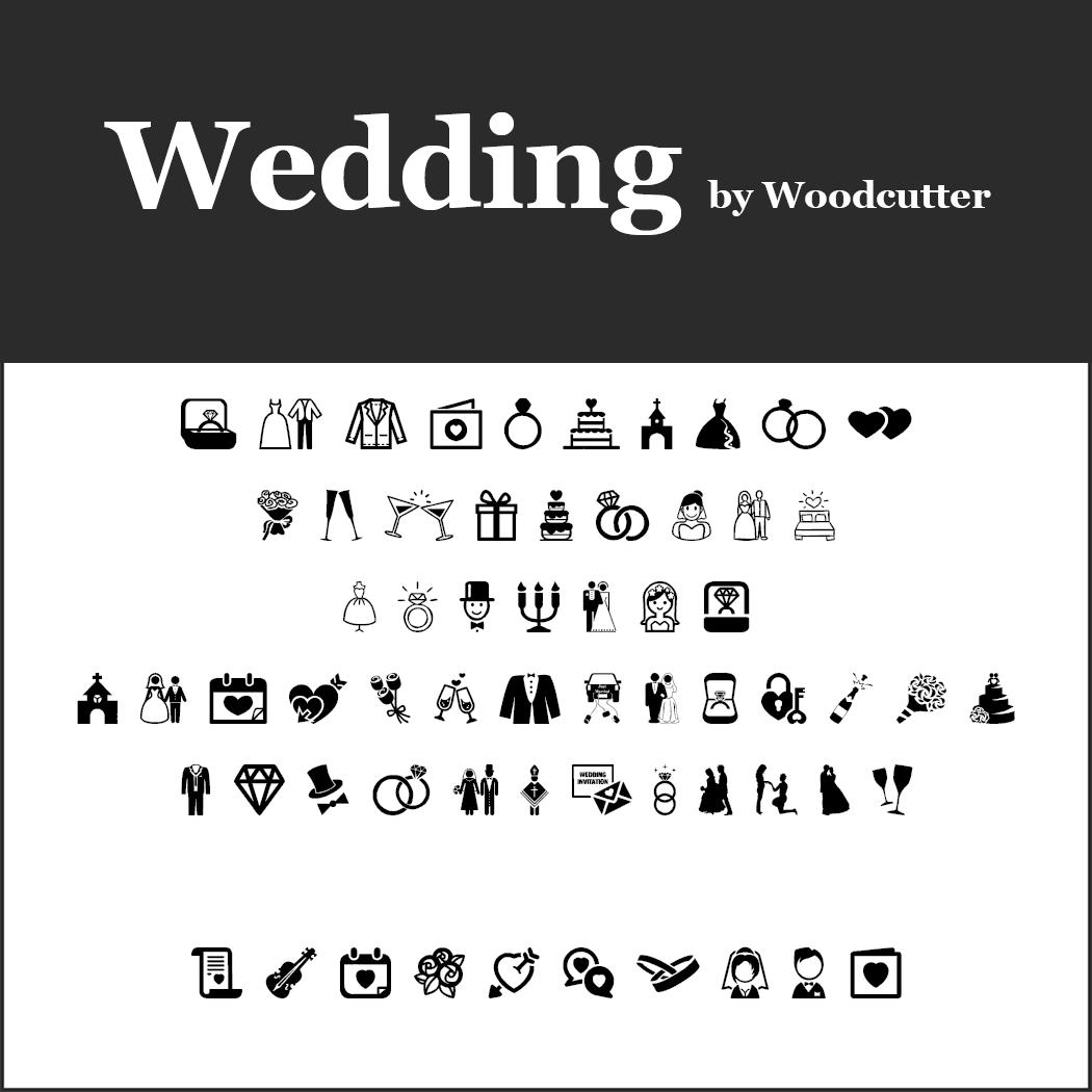 Wedding font Wedding by Woodcutter