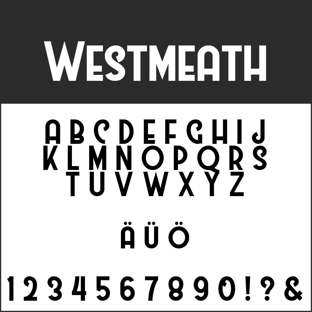 Wedding font Westmeath