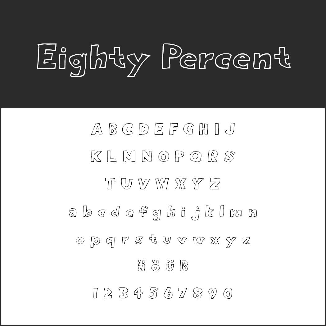 Outlined font Eigthy Percent Outline