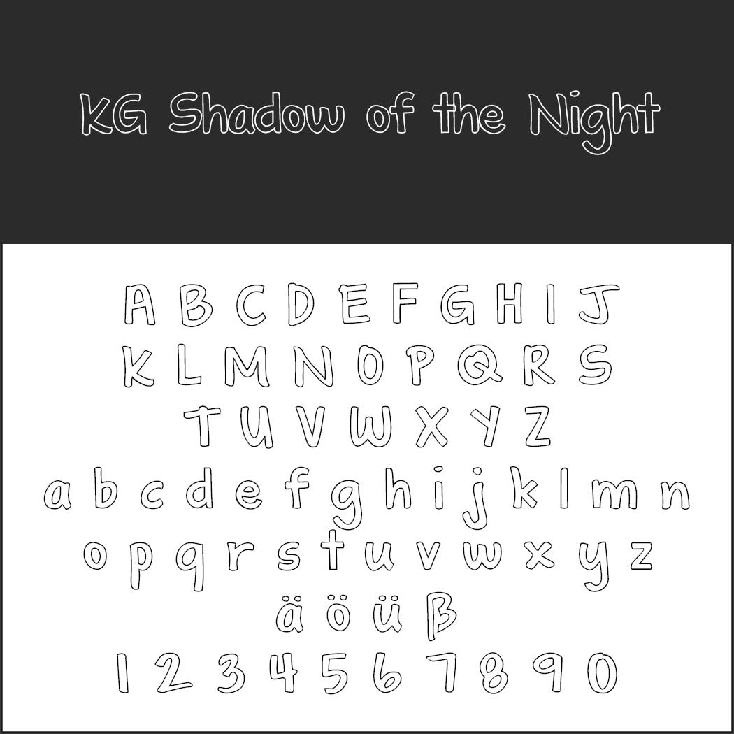 Outlined font KG Shadow of the Night