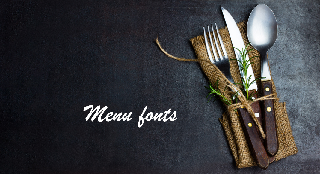 Menu fonts: an overview of the best free fonts