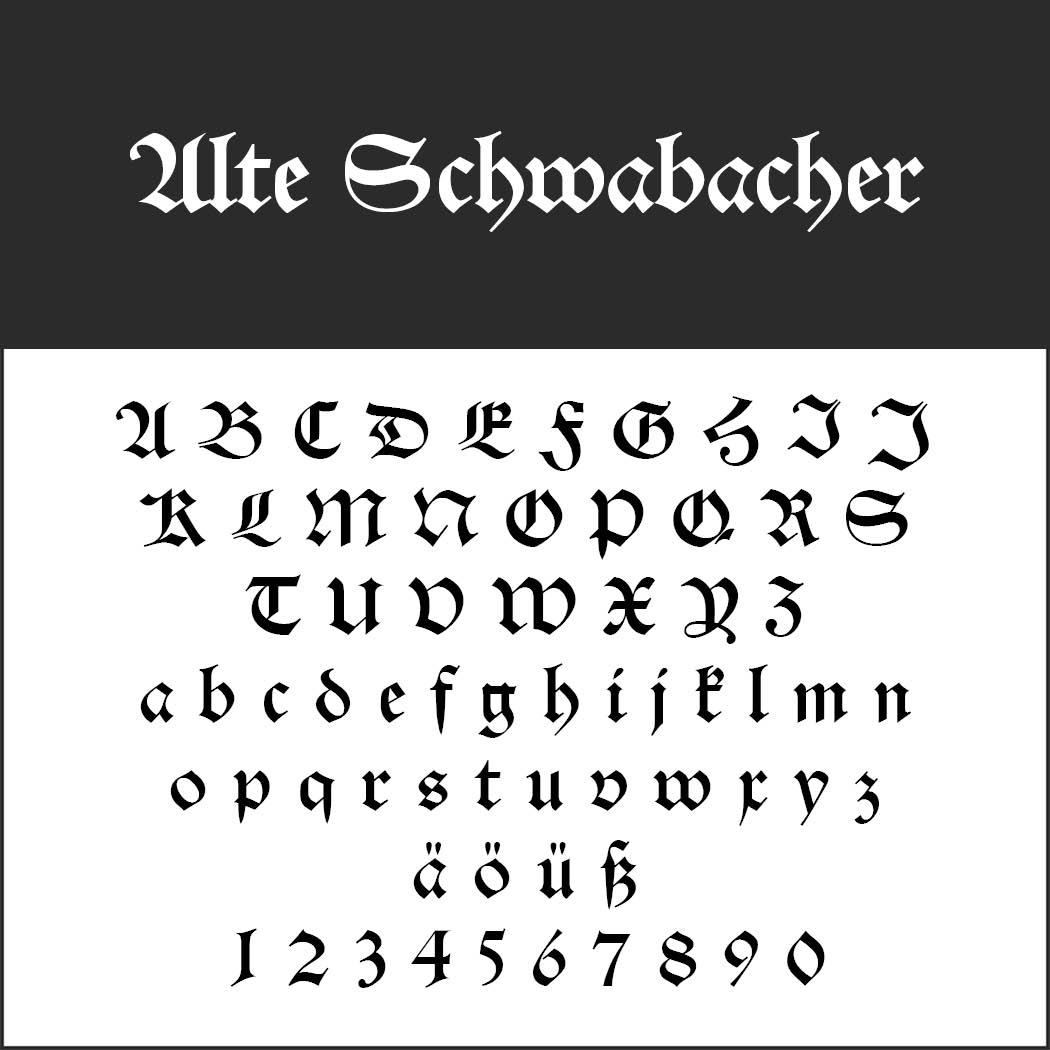 Alte Schriftarten Word