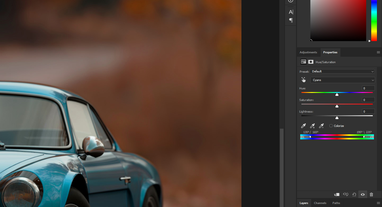 How to change colours in Photoshop without cutting out