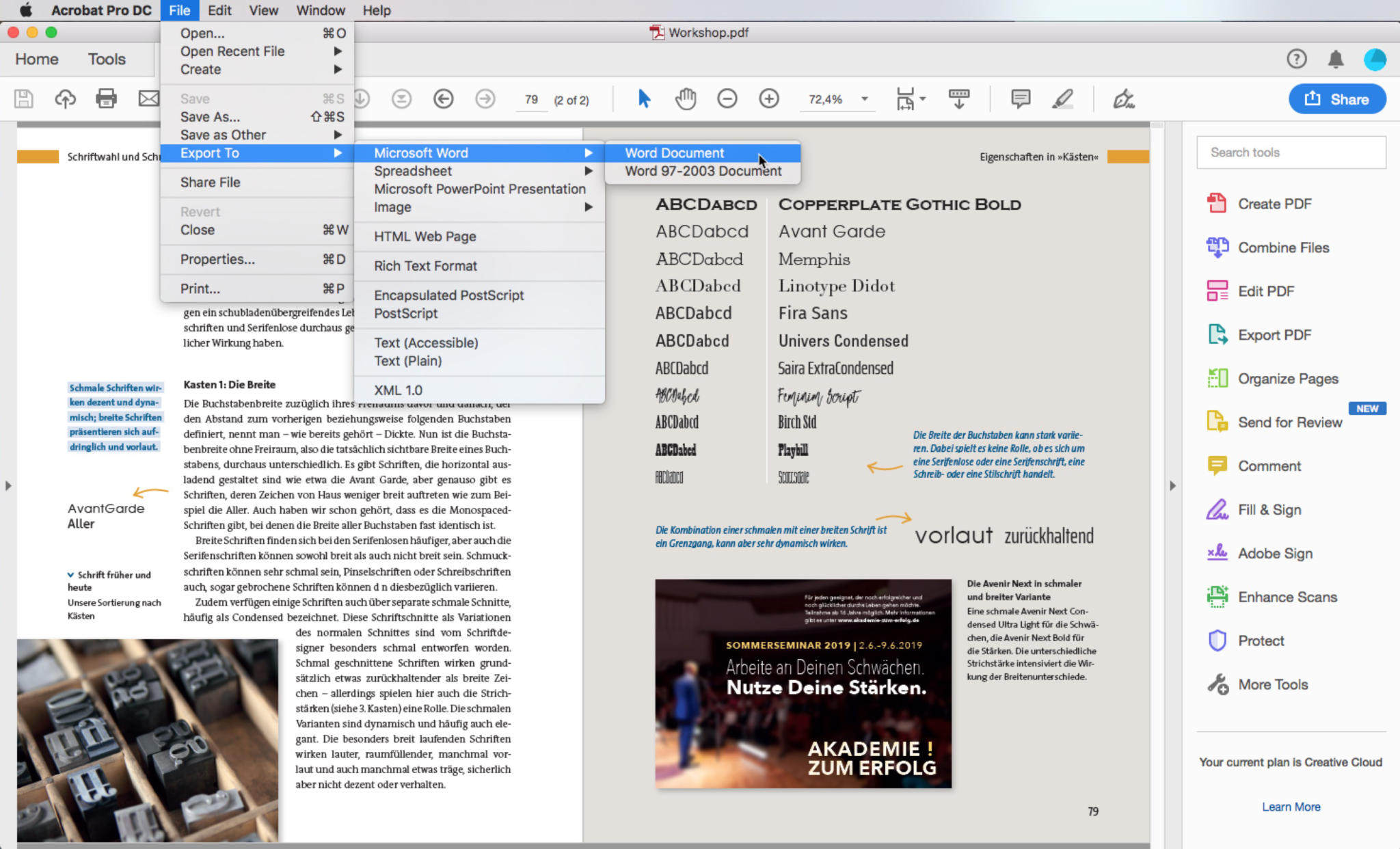 Word how pdf to change to
